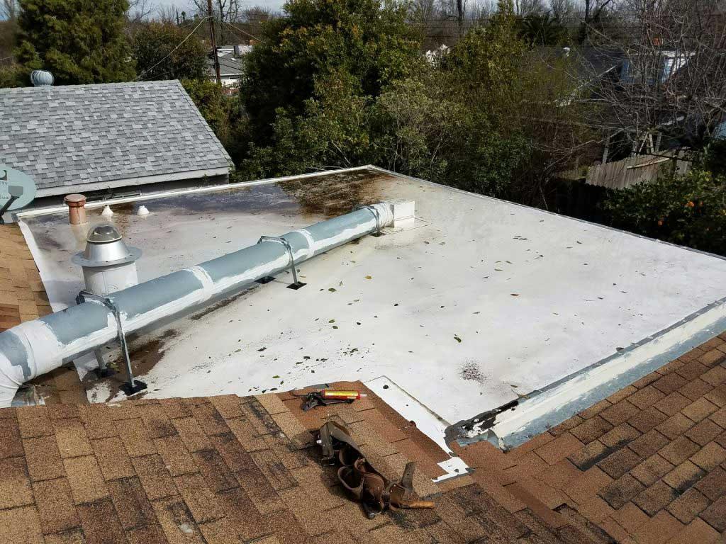 Flat Roof Leak Detection